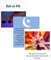 Eid ul-Fitr Cards and Booklet - Printable Montessori celebration materials by Montessori Print Shop.