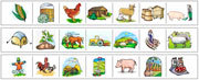 Farm Cutting Strips - Printable Montessori preschool Materials by Montessori Print Shop.