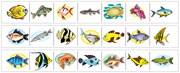 Fish Cutting Strips - Printable Montessori preschool Materials by Montessori Print Shop.