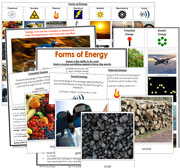 Forms of Energy - Printable Montessori Learning Materials by Montessori Print Shop.
