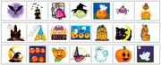 Halloween Cutting Strips - Printable Montessori preschool Materials by Montessori Print Shop.