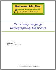 Elementary Homograph Key Experience & Materials - Printable Montessori Learning Materials by Montessori Print Shop.