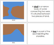 Land and Water Form Book (b/b) - Printable Montessori Learning Materials by Montessori Print Shop.