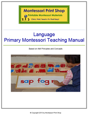 Primary Montessori Language Teaching Manual by Montessori Print Shop.