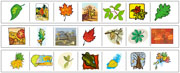 Leaf Cutting Strips - Printable Montessori preschool Materials by Montessori Print Shop.