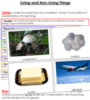 Living and Non-Living Things - Printable Montessori Learning Materials by Montessori Print Shop.