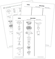 Living and Non-Living Blackline Masters - Printable Montessori Learning Materials by Montessori Print Shop.