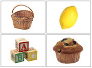 Phonetic Photos for Moveable Alphabet Step 2 (Small) - Printable Montessori materials by Montessori Print Shop.