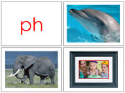 Phonogram Photos for Moveable Alphabet Step 3 (Small) - Printable Montessori materials by Montessori Print Shop.