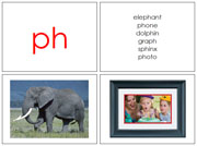 Phonogram Photos for Moveable Alphabet Step 3 (Small) - Printable Montessori Learning Materials by Montessori Print Shop.
