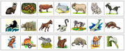 Mammal Cutting Strips - Printable Montessori preschool Materials by Montessori Print Shop.