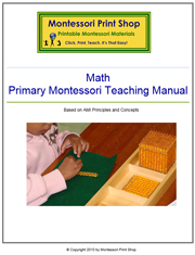 Primary Montessori Math Teaching Manual by Montessori Print Shop.