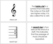Musical Notes and Symbols Book - Printable Montessori music materials by Montessori Print Shop.
