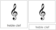 Musical Note and Symbol Cards - Printable Montessori music materials by Montessori Print Shop.
