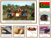 Australia/Oceania Geography Cards with Color Borders - Printable Montessori Geography Materials for home and school.