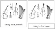 Orchestra Nomenclature Cards - Printable Montessori Learning Materials by Montessori Print Shop.