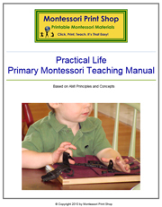 Primary Montessori Practical Life Teaching Manual by Montessori Print Shop.