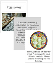 Passover Cards and Booklet - Printable Montessori celebration materials by Montessori Print Shop.