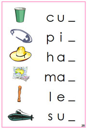 Pink Phonetic Ending Sound Cards - FREE Printable Montessori Language Materials for home and school.