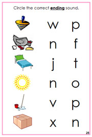 Pink Phonetic Ending Sound Choice Cards - Printable Montessori Learning Materials by Montessori Print Shop.