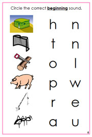 Pink Phonetic Initial Sound Choice Cards - Printable Montessori Learning Materials by Montessori Print Shop.