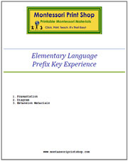 Elementary Prefix Key Experience & Materials - Printable Montessori Learning Materials by Montessori Print Shop.