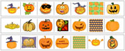 Pumpkin Cutting Strips - Printable Montessori preschool Materials by Montessori Print Shop.