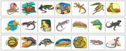 Reptile Cutting Strips - Printable Montessori preschool Materials by Montessori Print Shop.