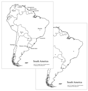 South America Capital Cities Map - Printable Montessori Geography Materials by Montessori Print Shop.