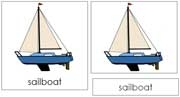 Sailboat Nomenclature Cards - Printable Montessori Learning Materials by Montessori Print Shop.