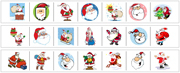 Santa Cutting Strips - Printable Montessori preschool Materials by Montessori Print Shop.