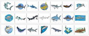Shark Cutting Strips - Printable Montessori preschool Materials by Montessori Print Shop.