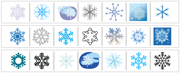 Snowflake Cutting Strips - Printable Montessori preschool Materials by Montessori Print Shop.