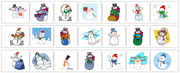 Snowman Cutting Strips - Printable Montessori preschool Materials by Montessori Print Shop.