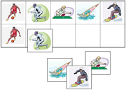 Sports and Leisure Match-Up & Memory Game - Printable Montessori preschool materials by Montessori Print Shop.