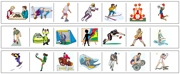 Sports & Leisure Cutting Strips - Printable Montessori preschool Materials by Montessori Print Shop.