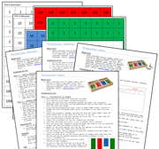 Stamp Game & Instructions - Printable Montessori math materials by Montessori Print Shop.