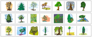 Tree Cutting Strips - Printable Montessori preschool Materials by Montessori Print Shop.