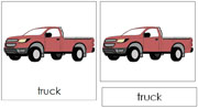 Truck Nomenclature Cards - Printable Montessori Learning Materials by Montessori Print Shop.