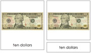US Currency - Printable Montessori materials by Montessori Print Shop.