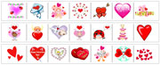 Valentine's Day Cutting Strips - Printable Montessori preschool Materials by Montessori Print Shop.