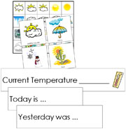 Weather Tracking Cards - FREE Printable Montessori Learning Materials by Montessori Print Shop.
