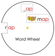 Word Wheels Set 1 - Printable Montessori Learning Materials by Montessori Print Shop.