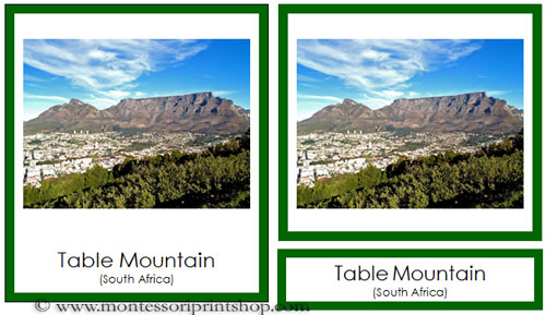 African Landmarks - Printable Montessori Geography Materials