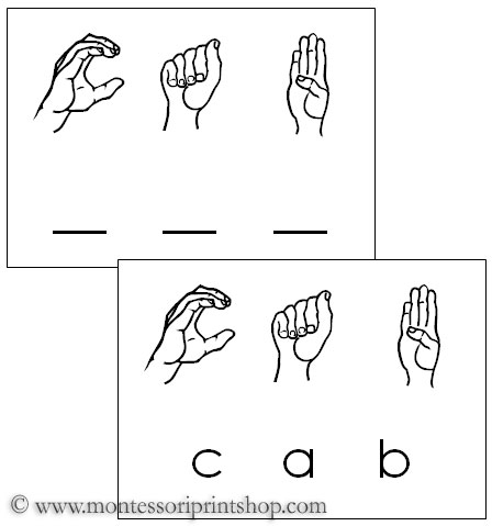 Sign language phrases printable american sign language words