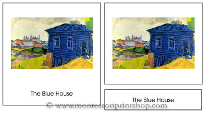 Printable Montessori Art Cards, 3-part format for Montessori Learning at home and school.
