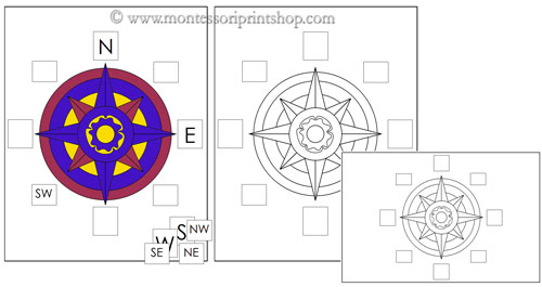 Free Compass Rose Worksheet For Kids free compass rose worksheet