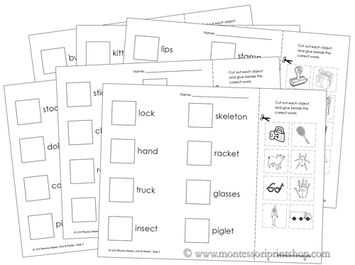 Number Names Worksheets » Cut And Paste Phonics - Free Printable ...