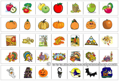 Fall Cutting Strips  - Printable Montessori materials that save teachers time for Montessori Learning at home and school.