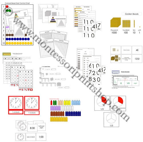 Montessori Math Extension Lessons and Printables
